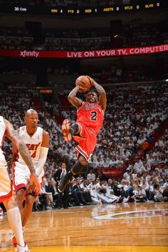 Nate--by far--is one of the best to capture in action photos. (May 15, 2013 | Eastern Conference Semifinals | Game 5 | Chicago Bulls @ Miami Heat | American Airlines Arena in Miami, Florida) Nate Robinson, American Airlines Arena, Eastern Conference, American Sports, Miami Heat, Miami Florida, Chicago Bulls, Espn, Cheerleading
