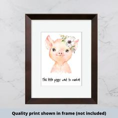 Beautiful Farmhouse Home Decor Signs DIY Boards by WildflowerLoft Home Decor Signs, Diy Signs, Baby Prints, Nursery Prints, Nursery Rhymes, Girl Nursery, Make Your Own Sign, Signs For Mom, This Little Piggy