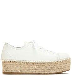Miu Miu - Espadrille-style platform leather sneakers - mytheresa.com