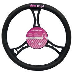Pink Me Lenkradbezug schwarz Pink, Pink Hair, Roses