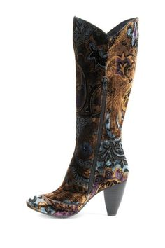 Born  Giselle Print Velvet Boot. If ever there was a perfect shoe... #boots