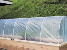 Hinged Hoop House Raised Bed Garden