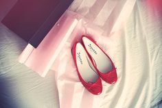 ballerinas flat shoes red