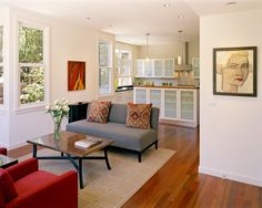 Rose Street Townhouses - contemporary - living room - san francisco - Trachtenberg Architects