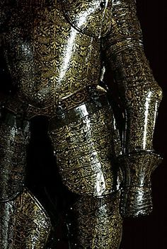 Italian. ca. 1610-1620  A complex of armour, embellished with gold damascening and engraving, made by Italian Geronimo Spacini for Aloph de Wignacourt, Grand Master of the Knights of Saint John of Jerusalem. Armory at the Grand Masters' Palace, Valletta, Malta. --- Image by © Adam Woolfitt/CORBIS