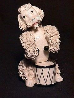 Classic 1950's white Spaghetti Poodle Figurine