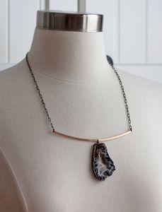 #geode #rosegold #necklace #alexisrusselljewelry