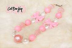 Pretty in pink bubblegum chunky necklace by CaliBowShop on Etsy, $12.00