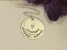 Mom of Three or Four Necklace, Hand Stamped Jewelry, Valentine's Day or Mother's Day Gifts