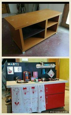 Cocinita juguete,  reciclaje muebles