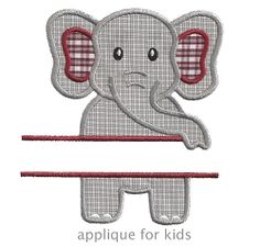 Split Elephant Applique - 4 Sizes! | What's New | Machine Embroidery Designs | SWAKembroidery.com