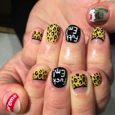 Ooo why have I never thought of yellow / black leopard?? *FLINSTONE REALNESS*