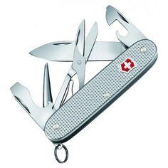 #Couteau suisse #Victorinox Pioneer X, côtes en aluminium (Alox) quadrillé, 9 fonctions.