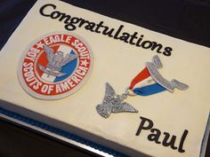 Eagle Scout Cake | Full sheet cake for Eagle Court of Honor.… | Flickr