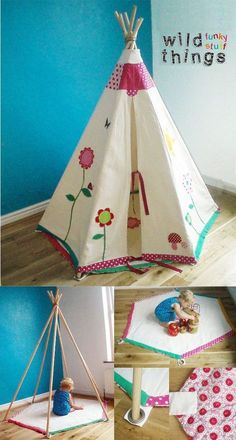 duh?! I need to make this mat to keep Macy's teepee open!: