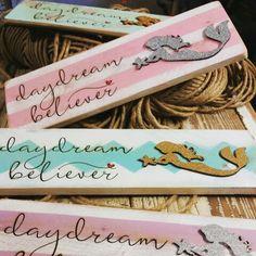 Daydream Believer Wood Burned Plank Art