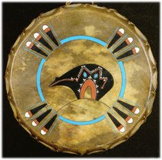 Hand painted Limited Edition SPIRIT BEAR drums Native American Indian artifacts Native American Patterns, Native American Symbols, Native American Crafts, Native American Design, Native American Artifacts, American Indian Art, Native American Indians, American Women, American History
