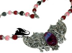 Necklace women choker Dawn over the clouds Pegasus
