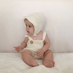 Weebits hand knitted merino bonnet and romper. New Zealand made for babies & infants . . #weebits #romper #bonnet # nzmade