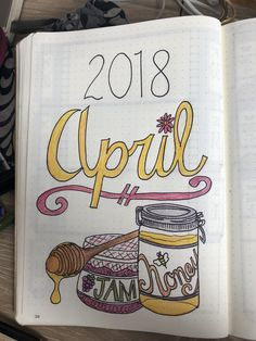 April monthly cover bullet journal