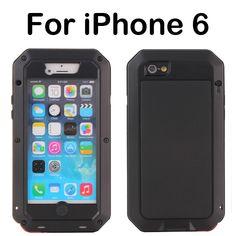 For iphone6 Phone case funda Water/Dirt/Shockproof Metal Aluminum gorilla glass mobile phone bags & case For iPhone6 Mobile case