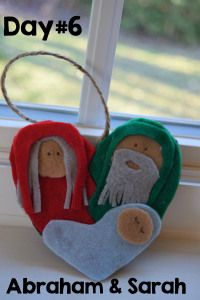"""Day 6 of Advent- Abraham, Sarah, Isaac Ornament/Craft - """"Unwrapping the Greatest Gift"""""""