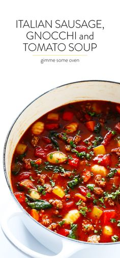 This Italian Sausage, Gnocchi and Tomato Soup recipe only takes about 30 minutes to make, and is filled with the absolute best savory and cozy flavors for soup season. As a summer lovin' girl, the flip of the calendar into September has always felt a little bittersweet. ❤️ I mean, I love a beautiful crisp fall …