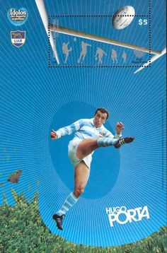 Argentina Rugby on Stamps-2008. An International Rugby Hall of Fame inductee Hugo Porta is one of the true legends of rugby and arguably one of the best fly-halfs the sport has seen. He made his debut, aged 20, for Argentina in 1971. When he made his final appearance in 1990 he had 58 caps for Argentina and the Jaguars and had captaintained Argentina on 34 occasions.