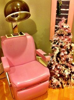 Harting Turquoise Vintage Salon Chair Studio Hair and Makeup Chair