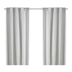 These curtains show very poorly online - the stripes are gray, tan, dark brown and black.