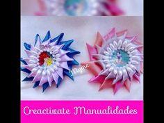 Tocado Con petalos Kanzashi facil de hacer/ kanzashi petals easy/Creactivate Manualidades - YouTube