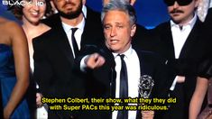 14 Reasons Why Jon Stewart & Stephen Colbert's Bromance Is The Greatest [GIFs] John Oliver Stephen Colbert, John Stewart, Love Of My Life, My Love, The Emmys, Global Citizen, Political Memes, Funny Clips, Comedians