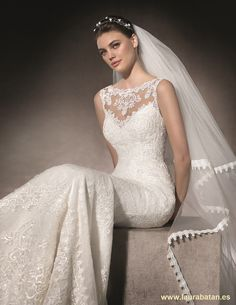 MILAGRO is a magical mermaid dress with a bateau neckline and second skin effect Wedding Girl, Bridal Wedding Dresses, Wedding Dress Styles, Bridal Shoes, Mermaid Wedding, San Patrick, Yes To The Dress, Bateau Neckline, Got Married