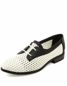 Perforated 2-Tone Oxford - $26.00 this is a cute throw back to the past with these and their updated to be even better. I would love to wear these and with the crazy socks my kids wear these would be adordable. -- Pretty Black Sheep