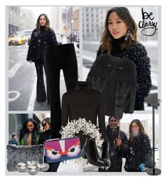 Black flare pants and vlog with Shiona Turini by sarapires on Polyvore featuring Y-3, Topshop, STELLA McCARTNEY, Fendi, Ethan Allen, Georg Jensen, women's clothing, women's fashion, women and female