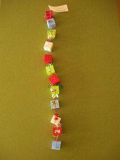 Cute idea for each kid...Boys Advent gift chain--