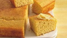 Sweet country cornbread.  Milk, butter, egg, cornmeal, flour, sugar, baking powder, and salt.  You can add a can of corn too