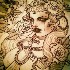 Emily Rose Murray Tattoo Sketches | The tattoo sketches of Emily Rose Murray.