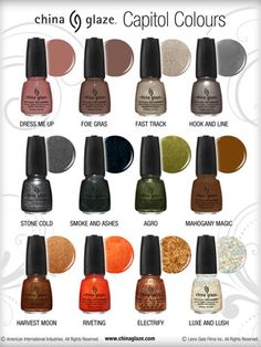 The Hunger Games inspired nail polishes.