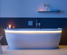 LED Lighted Whirltub 'Darling New' by Duravit - urban modern