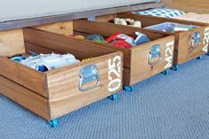 DIY Rolling Storage Crate | 15 Ingenious DIY Home Projects For Small Spaces