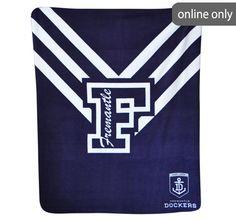 afl-team-logo-polar-fleece-printed-throw-fremantle-dockers Quilt Cover Sets, Polar Fleece, Team Logo, Printed, Logos, Duvet Cover Sets, A Logo, Logo