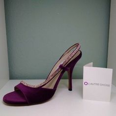 Women's L'autre Chose Diamante Sandals Shoes Strappy High Heel Peep Toe Sparkle #womenshoes #womensandals #l'autrechose #diamante #sparkle