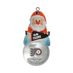 Philadelphia Flyers Santa Snow Globe Ornament