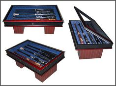 Awesome baseball bat coffee table. Who's four bats would you include?