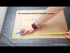 Tipar corsaj spate (baza pentru realizare tricou, bluza, camasa, rochie) - YouTube