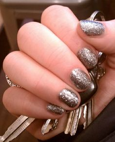 New Years Eve Glitter Nails Intense silver sparkles by @Jacqui Maher Alexander
