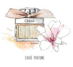 Chloé perfume - Illustration by Armelle Tissier