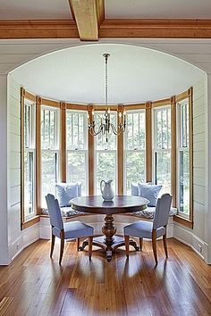 Dining Room Bump Out Awesome Breakfast Nook Ideas 15 Inspirations Bob Vila Cottage Dining Rooms, Country Dining Rooms, Breakfast Nook Table, Kitchen Nook, Kitchen Ideas, Cottage Style Homes, New House Plans, Kitchen Design, New Homes