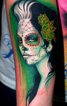 Tattoo<3 Sylvia Ji piece by Bez of Triplesix Studios. Tattoo~